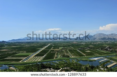 Neretva valley, the most fertile part of Croatia