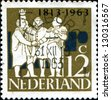 NETHERLANDS - CIRCA 1963: A stamp printed in  Netherlands shows G. K. van Hogendorp, Graf van der Duyn van Maasdam, Graaf van Limburg Stirum, Dutch Leaders, circa 1963 - stock photo