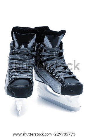 new and modern skates close up
