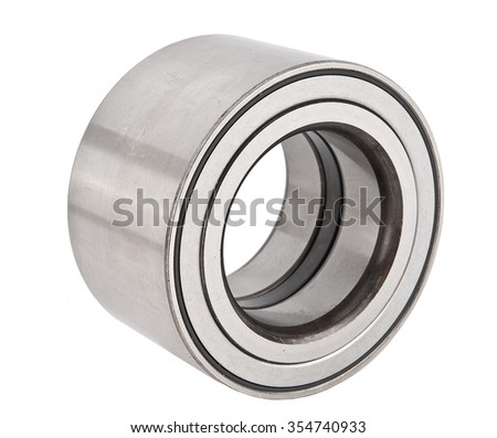 new ball bearing isolated on white background