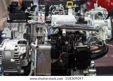 New car engine model for motorshow exhibition