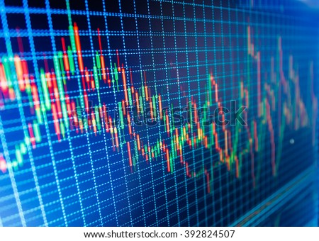 New modern computer and business strategy as concept. Candle stick graph chart of stock market investment trading. Business analysis diagram. Background stock chart. Price chart bars.