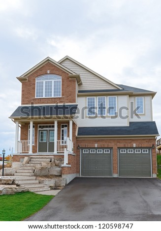 New two storey house in Canada. Ontario, New house in subdivision.