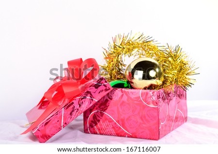 new year box and decoration