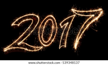 New year spark text 2017