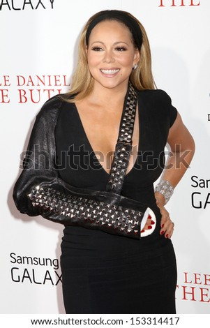 "NEW YORK - AUG 5: Mariah Carey attends the premiere of ""The Butler"" at the Ziegfeld Theatre on August 5, 2013 in New York City."