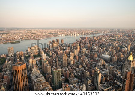 New York. Beautiful skyline, aerial view.