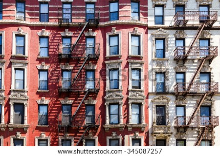New York City Apartment Building Background Part 78