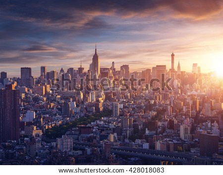 New York city before sunrise