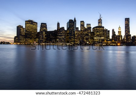 New York City Manhattan skyline, USA