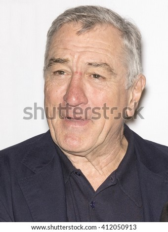 New York City, USA - April 23, 2016: Robert De Niro attends - Pele: Birth Of A Legend - Premiere during the 2016 Tribeca Film Festival at John Zuccotti Theater