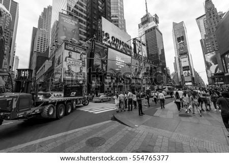 Interpretation Times Square New York Black Stock Vector ...