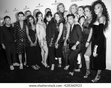 New York City, USA - May 24,2016: Gogoboi, A Vergano, V Kola, Y Aschberger, H Steinfeld, R Buchbauer, M Zhang, K Kloss, V Hong, Zanita, W Port, G Embank and Bryanboy attend Swarovski BeBrilliant event
