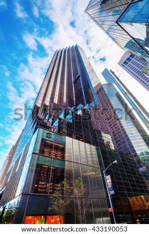 New york city october 10 2015 stock photo 331868378 for Trump tower new york penthouse