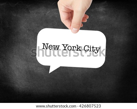 New York City written on a speechbubble
