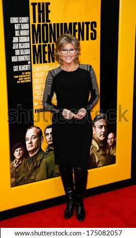 NEW YORK-FEB 4: TV anchor Ashleigh Banfield attends the premiere of 'The Monuments Men' at the Ziegfeld Theatre on February 4, 2014 in New York City.