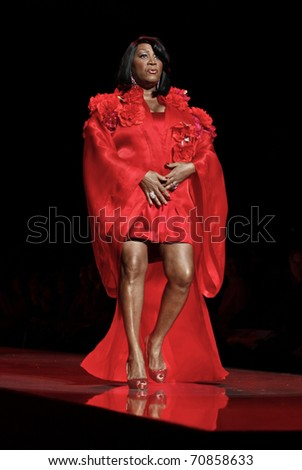 NEW YORK - FEBRUARY 09: Patti LaBelle in Zang Toi dress walks runway for The Heart Truth's Red Dress Collection at Mercedes-Benz Fall/Winter 2011 Fashion Week on February 09, 2011 in New York City.