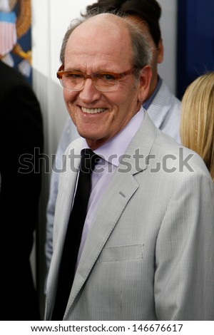 "NEW YORK-JUNE 25:  Actor Richard Jenkins attends the premiere of ""White House Down"" at the Ziegfeld Theater on June 25, 2013 in New York City."