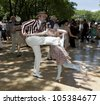 NEW YORK - JUNE 16: Atmosphere on the lawn during 7th Annual Jazz age concert and picnic on Governors Island on June 16 2012 in New York - stock photo