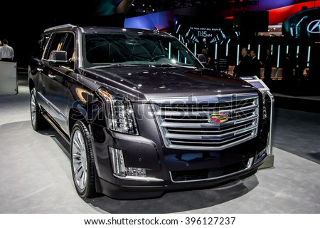NEW YORK - March 23: A Cadillac CT6 exhibit at the 2016 New York International Auto Show during Press day,  public show is running from March 25th through April 3, 2016 in New York, NY.