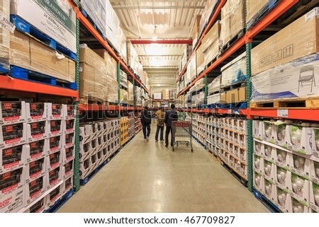 Pallet Racking Systems Distribution Warehouse Stock Photo