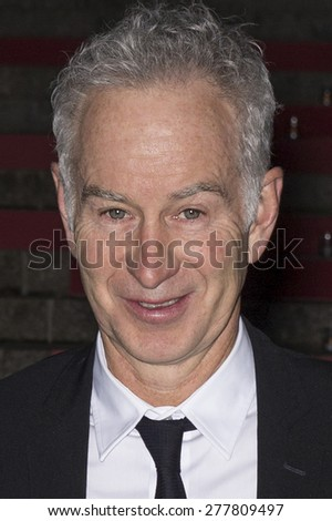 NEW YORK, NY - APRIL 14, 2015: Professional tennis player John McEnroe attends the 2015 Tribeca Film Festival - Vanity Fair Party at State Supreme Courthouse