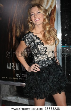 "NEW YORK, NY - OCTOBER 13: Blake Lively attends the ""Where the Wild Things Are"" premier on October 13, 2009 in New York City."