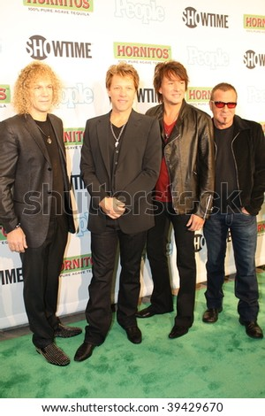 "NEW YORK, NY - OCTOBER 21: Bon Jovi attends the Bon Jovi film ""When we were beautiful"" premier on October 21, 2009 in New York City."