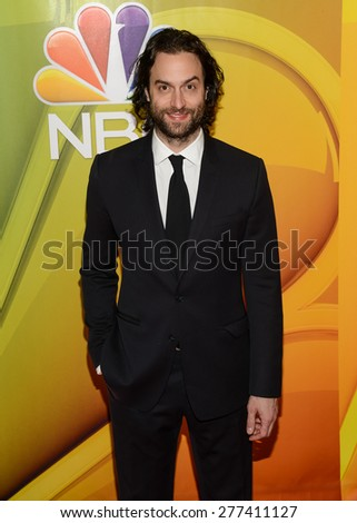New York, NY â?? Tuesday May 11, 2015: Chris D'elia attends the NBC Upront Presentation at Radio City Music Hall in New York City.