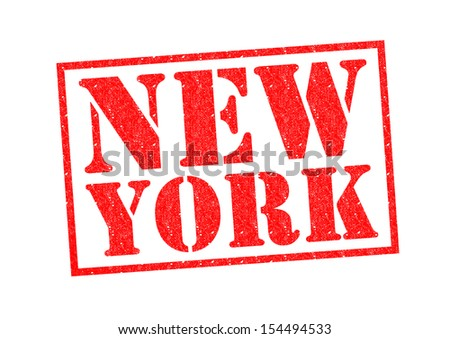 NEW YORK Rubber Stamp over a white background.