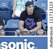 NEW YORK - SEPTEMBER 1: Alex Ovechkin attends 3rd round match between Andrea Hlavackova of Czech Republic & Maria Kirilenko of Russia at US Open tennis tournament on September 1, 2012 in Flashing NYC - stock photo