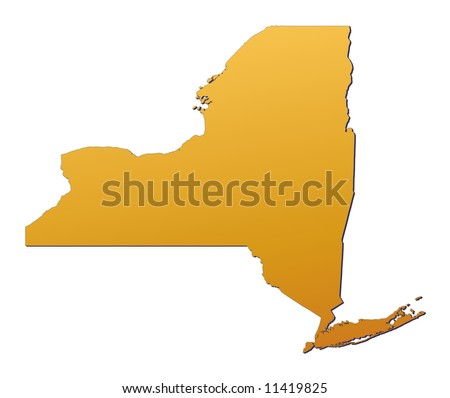 Map New York State Usa Mercator Stock Illustration - New york in usa map