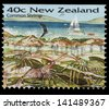 NEW ZEALAND - CIRCA 1996: A stamp printed in New Zealand, shows Common Shrimp, circa 1996 - stock photo