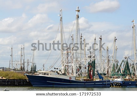 Shrimp boat stock photos shrimp boat stock photography for Galveston fishing charters cheap