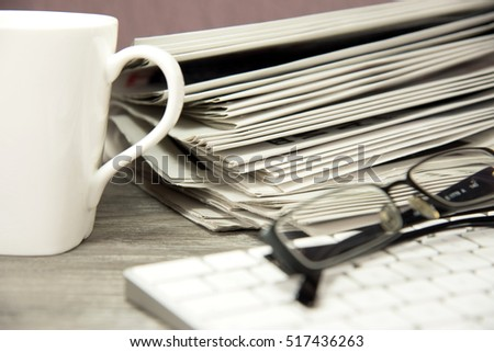 Newspapers and a computer