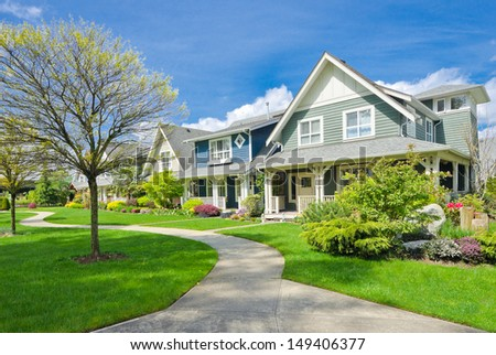Big custom made luxury house nicely stock photo 346448522 for Big houses in america