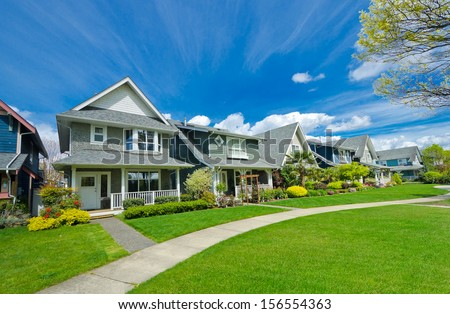 Big custom made luxury house nicely stock photo 215657575 for Big houses in america