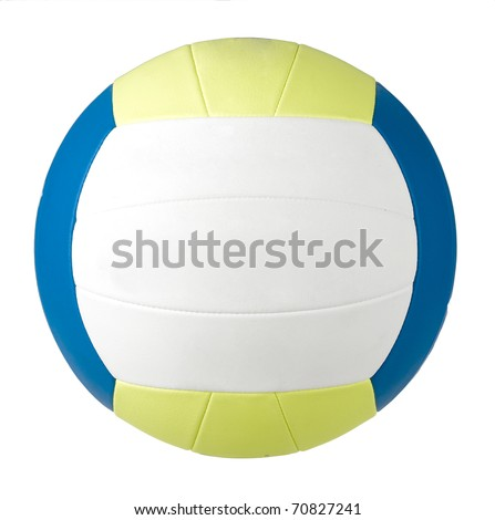 Nice and soft volleyball for indoor or beach game an image isolated on white
