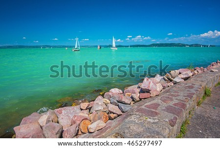 Nice landscape of Lake Balaton, Hungary
