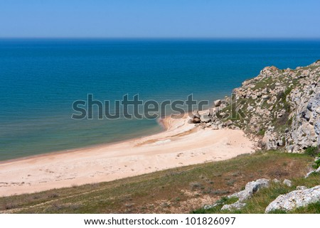 nice landscape with sea coast and beach