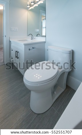 Nicely Decorated Modern Washroom Bathroom With The Toilet Sit Sink Interior Design