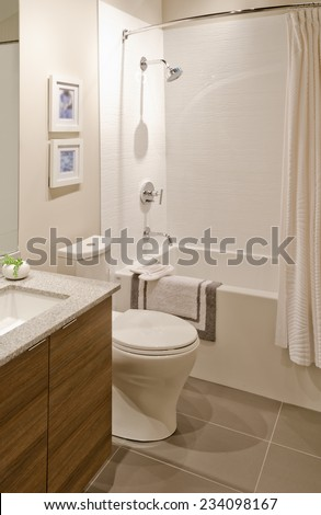 3d illustration design bathroom stock illustration - Nicely decorated bathrooms ...