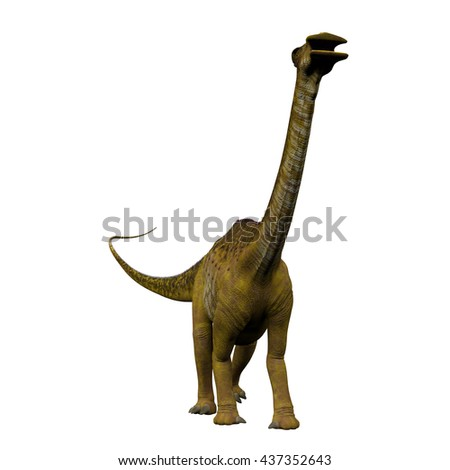 Nigersaurus on White 3D Illustration - Nigersaurus was a sauropod herbivorous dinosaur that lived in the Republic of Niger, Africa during the Cretaceous Period.
