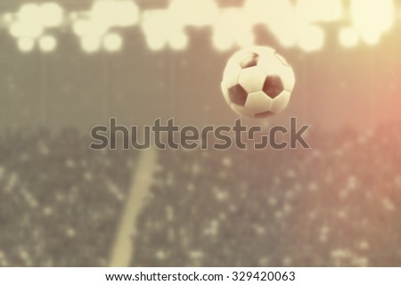 Night of Soccer, retro blurred image background