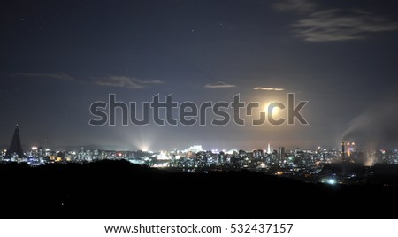 Night view of Pyongyang
