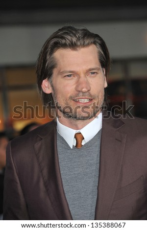 "Nikolaj Coster-Waldau at the American premiere of his new movie ""Oblivion"" at the Dolby Theatre, Hollywood. April 10, 2013  Los Angeles, CA Picture: Paul Smith"