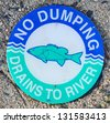 no dumping sign - stock photo