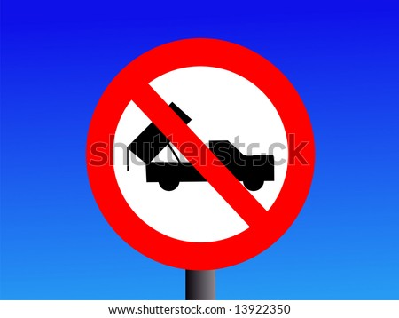 No dumping sign with truck symbol JPG