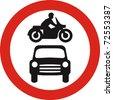 no motor vehicles sign in JPG - stock vector
