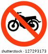 No Motorcycle Sign - stock photo